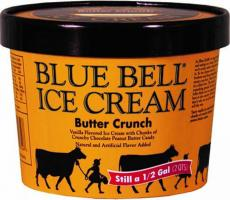 A lot of Blue Bell Ice Cream was recalled after a piece of a plastic tool was found in a product. Image courtesy of Blue Bell Creameries