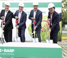 BASF held a ground breaking event this week to mark the start of construction on its new crop protection products manufacturing hub in Singapore. Image courtesy of BASF