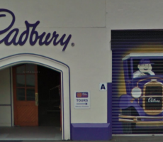 An entrance to Mondelez International's Cadbury site in Dunedin, New Zealand. Image courtesy of Google Maps