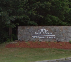 A sign at the entrance of the Saint Gobain Performance Plastics plant in Merrimack, NH. Image courtesy of Google Maps