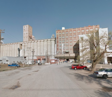 The Archer Daniels Midland flour mill in Enid, OK. Image courtesy of Google Maps