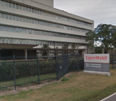 A sign at the ExxonMobil refinery in Baton Rouge, LA. Image courtesy of Google Maps