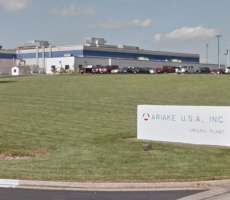 The Ariake U.S.A. plant in Harrisonburg, VA. Image courtesy of Google Maps