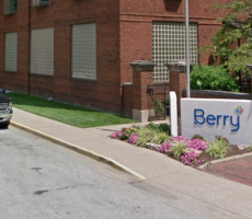 A sign marking the entrance to a Berry Group facility in Evansville, IN. Image courtesy of Google Maps