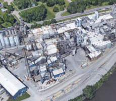 The Cargill grain milling facility in Cedar Rapids, IA. Image courtesy of Google Earth