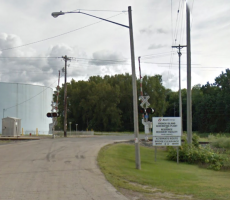 A sign marking an entrance to the Xcel Energy facility in La Crosse, WI. Image courtesy of Google Maps