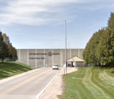 A view of the International Paper plant in Cedar Rapids, IA. Image courtesy of Google Maps