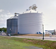 The Bunge grain facility in LaGrange, MO. Image courtesy of Google Maps