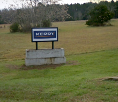 A sign marking an entrance to the Kerry Inc. liquid smoke plant in Greenville, MO. Image courtesy of Google Maps