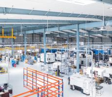 The Atlas Copco manufacturing plant in Hyderabad, India. Image courtesy Atlas Copco