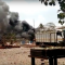 A screenshot from a YouTube video showing the explosion's aftermath