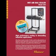 Hamer Model 500 Hot Air Bag Sealer