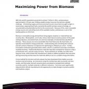 Maximizing Power from Biomass